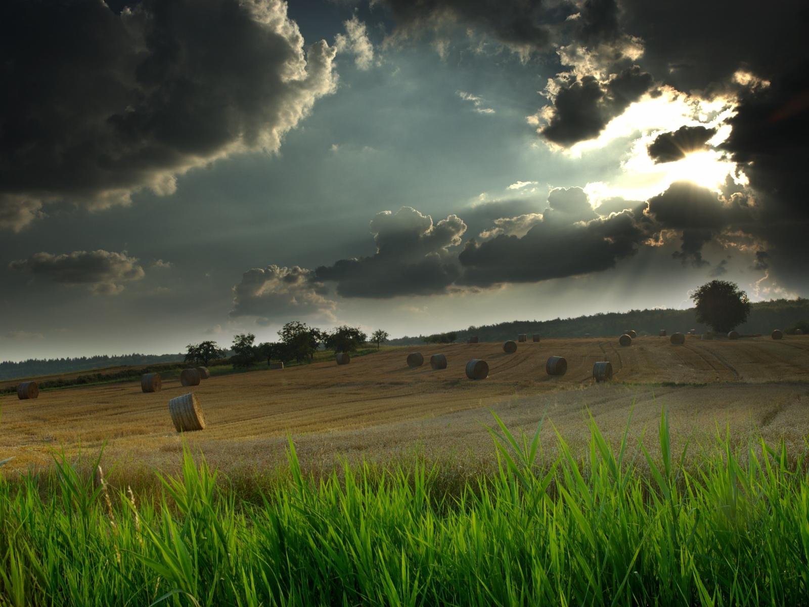 Bewölkte Landschaft