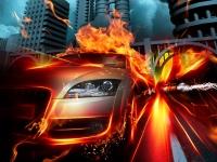 car_in_fire_city